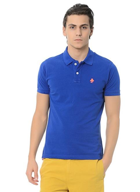 Routefield Polo Yakalı Tişört Mavi